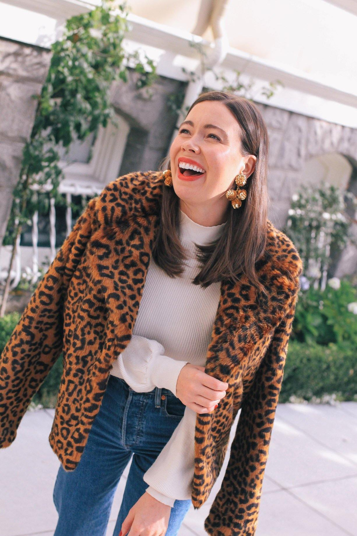 Sanctuary Leopard Faux Fur Jacket