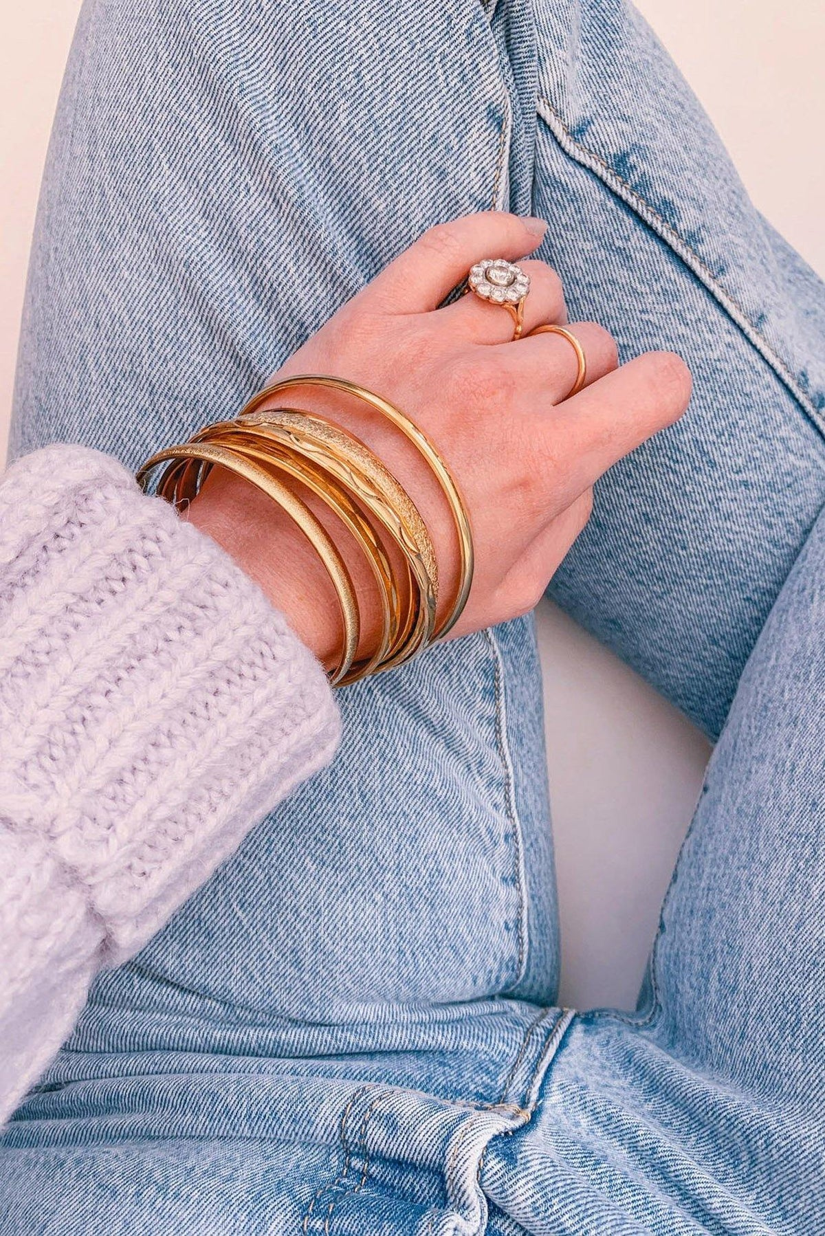 Textured Skinny Bangle - Sweet & Spark