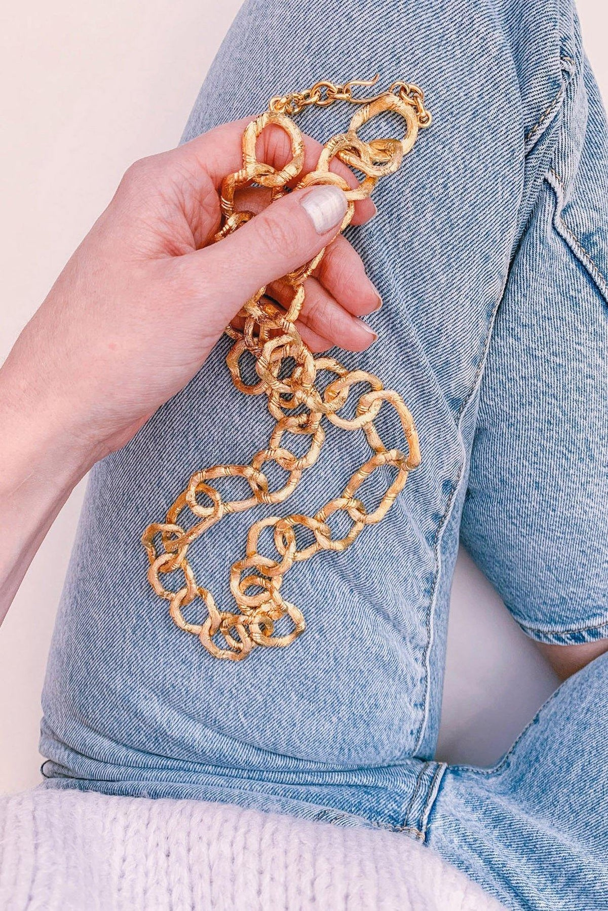Chunky Bamboo Chain Necklace