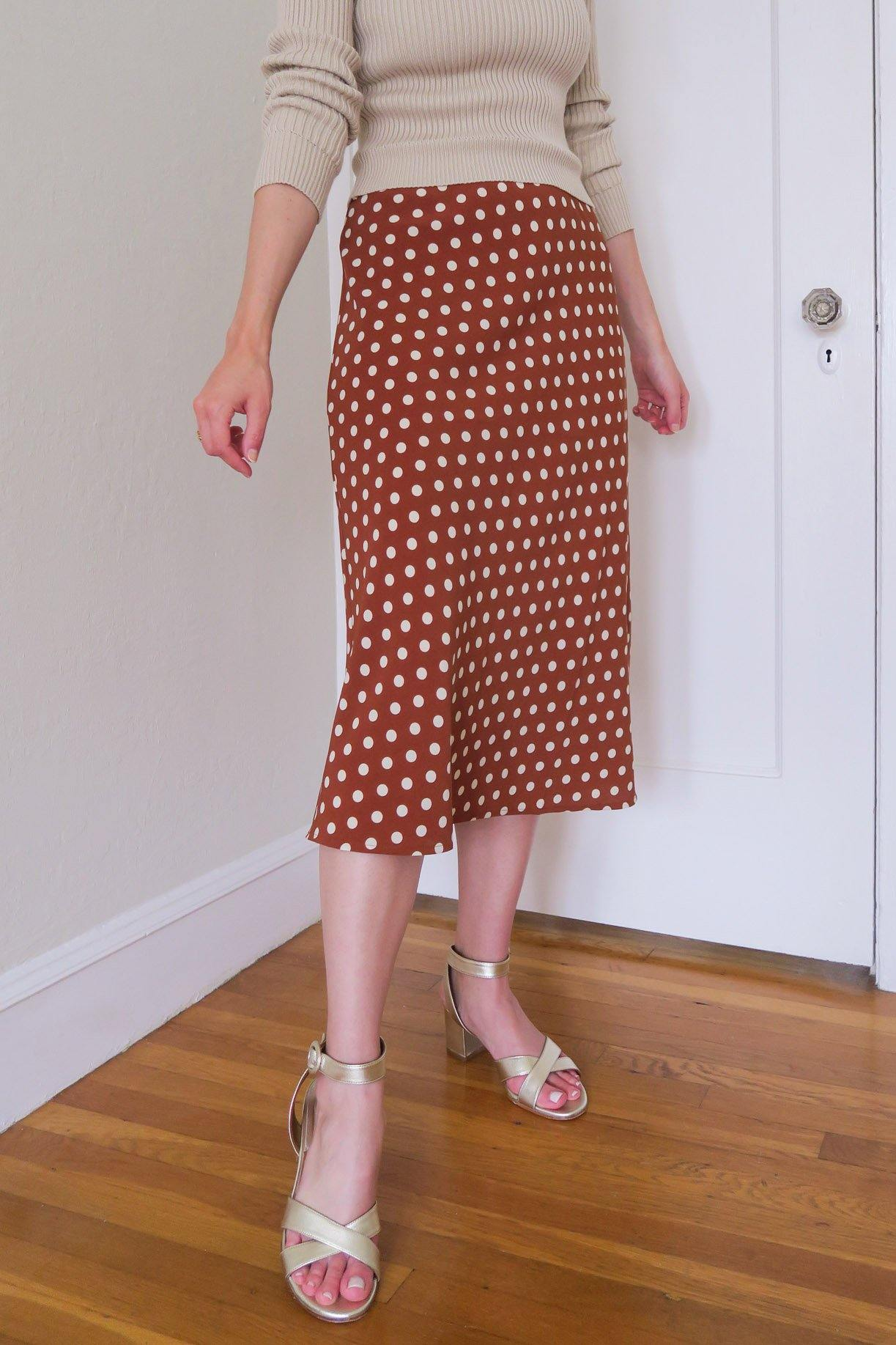 Polka Dot Slip Skirt