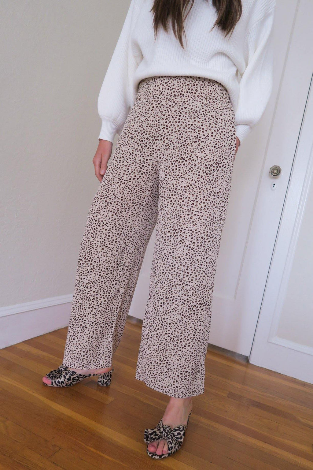 Leopard Wide Leg Pants