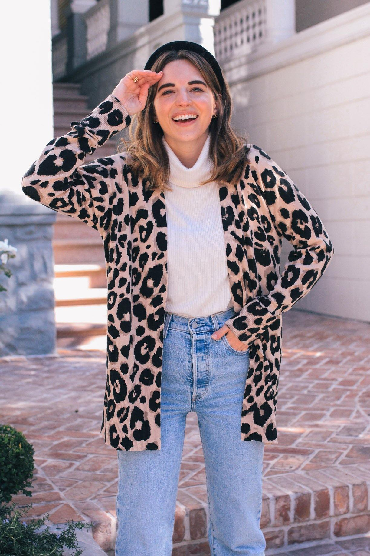 Sanctuary LEopard Essential Cardigan from Sweet and Spark.