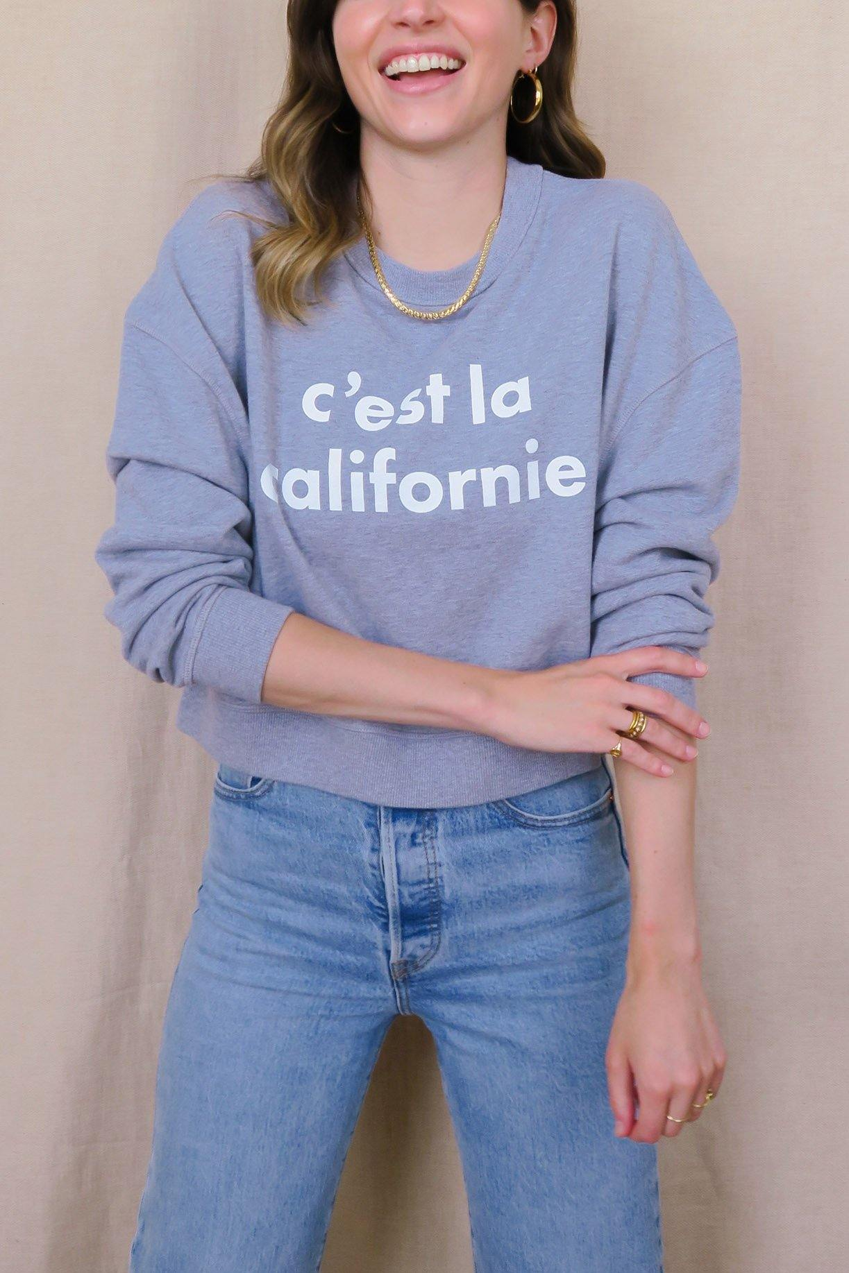 C'est La Californie Grey Sweatshirt