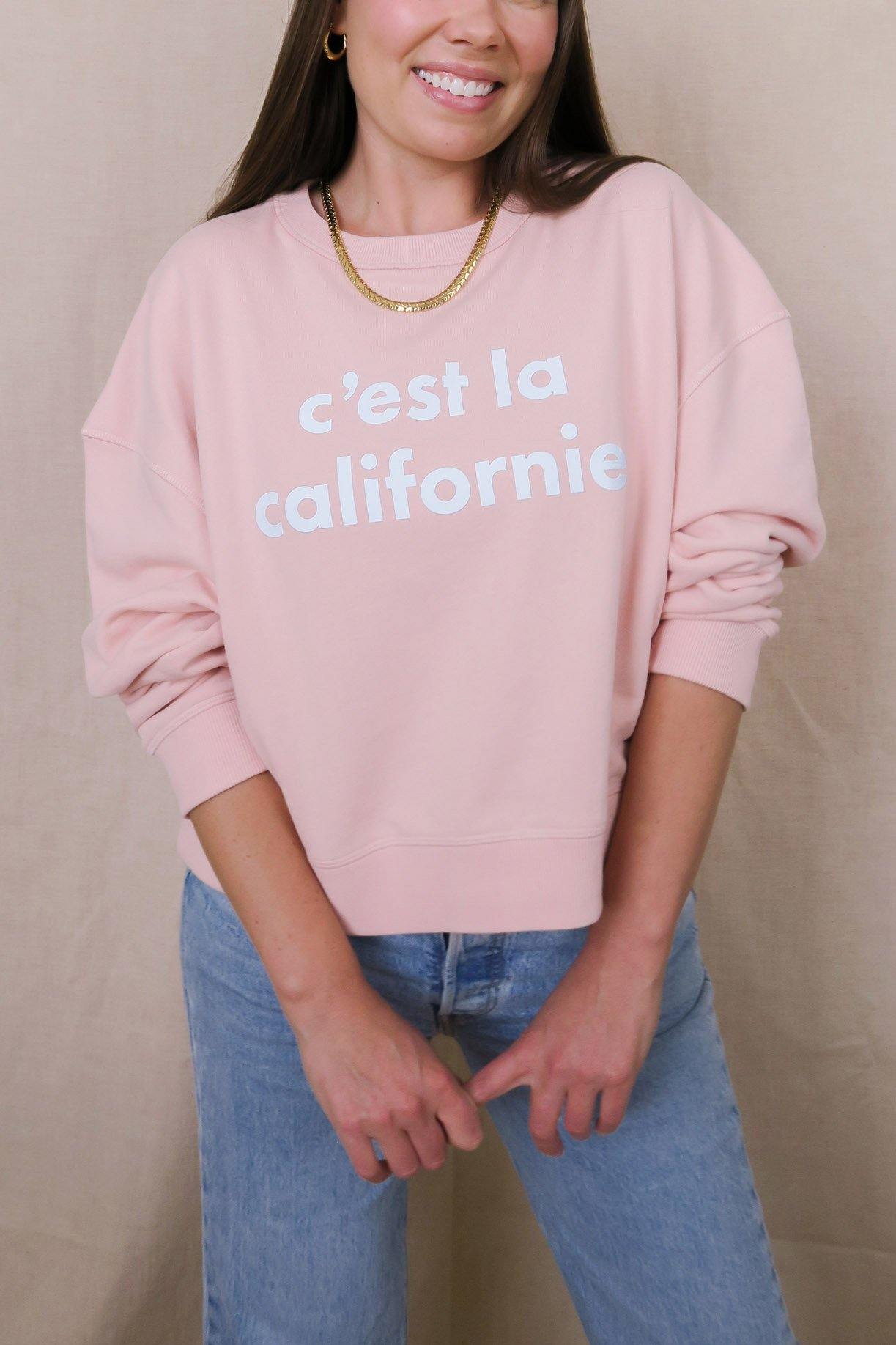 C'est La Californie Blush Pink Sweatshirt