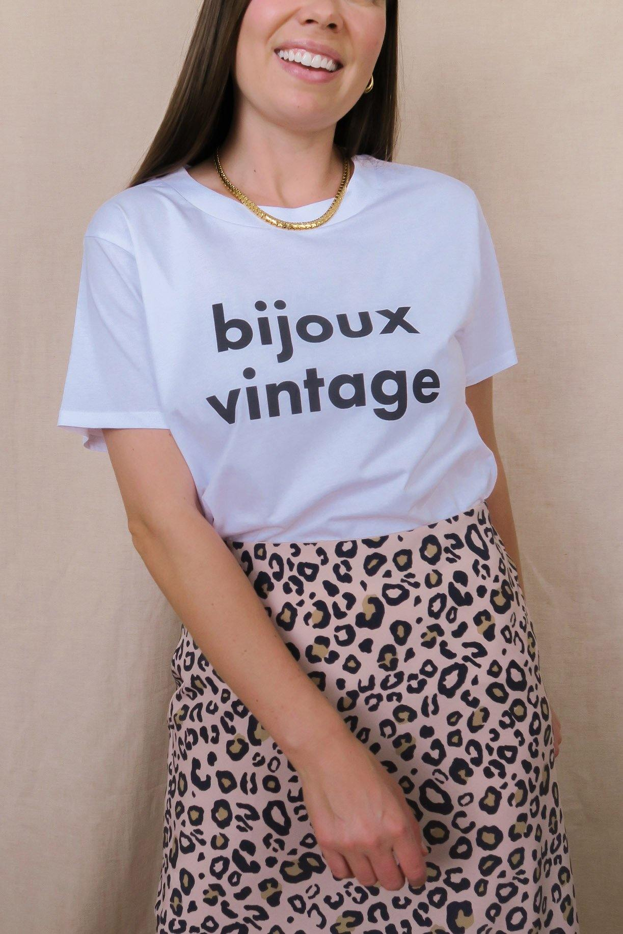 Bijoux vintage graphic t from Sweet & Spark.