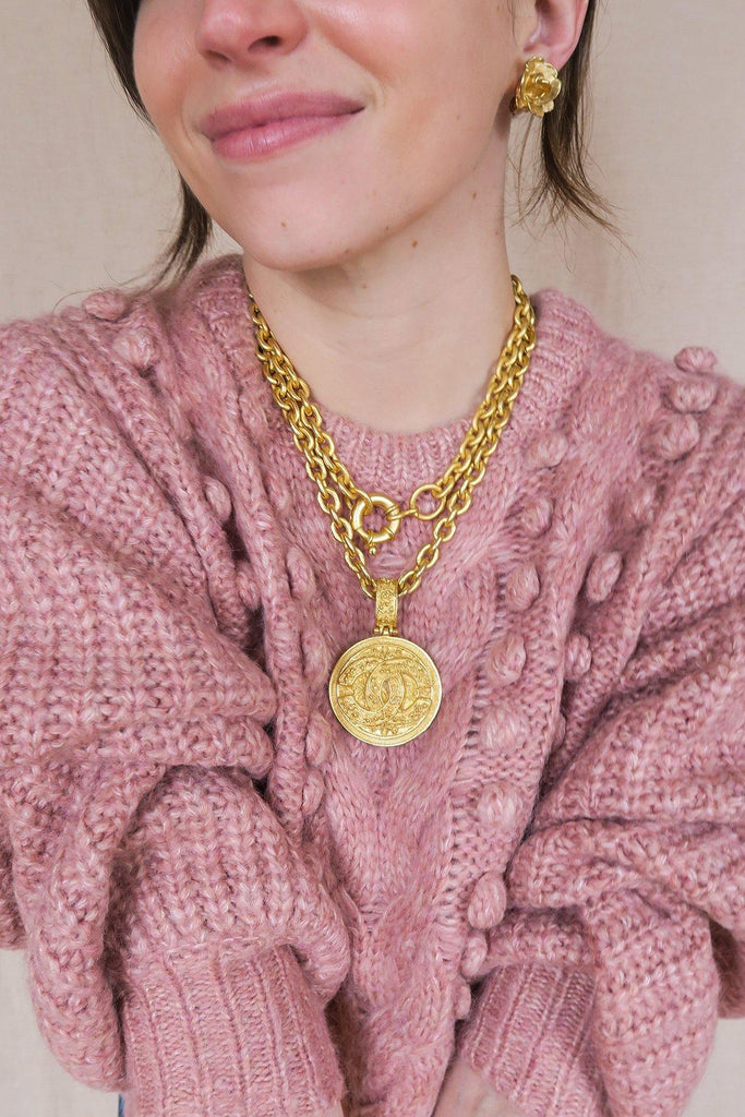 Chanel Statement Coin Necklace