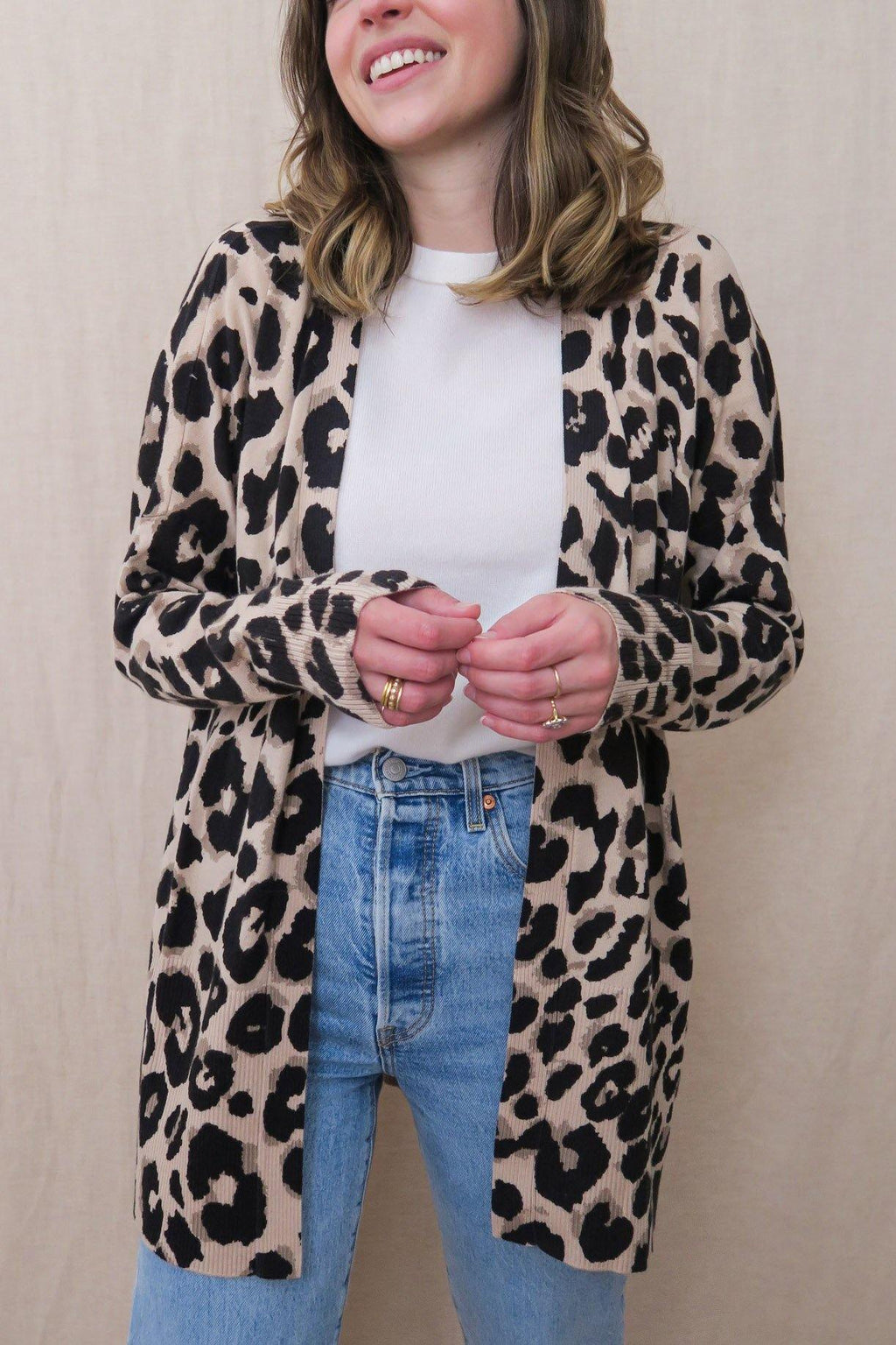 Sanctuary Leopard Essential Cardi