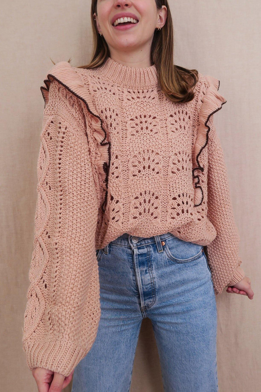 En Saison Ruffled Sweater