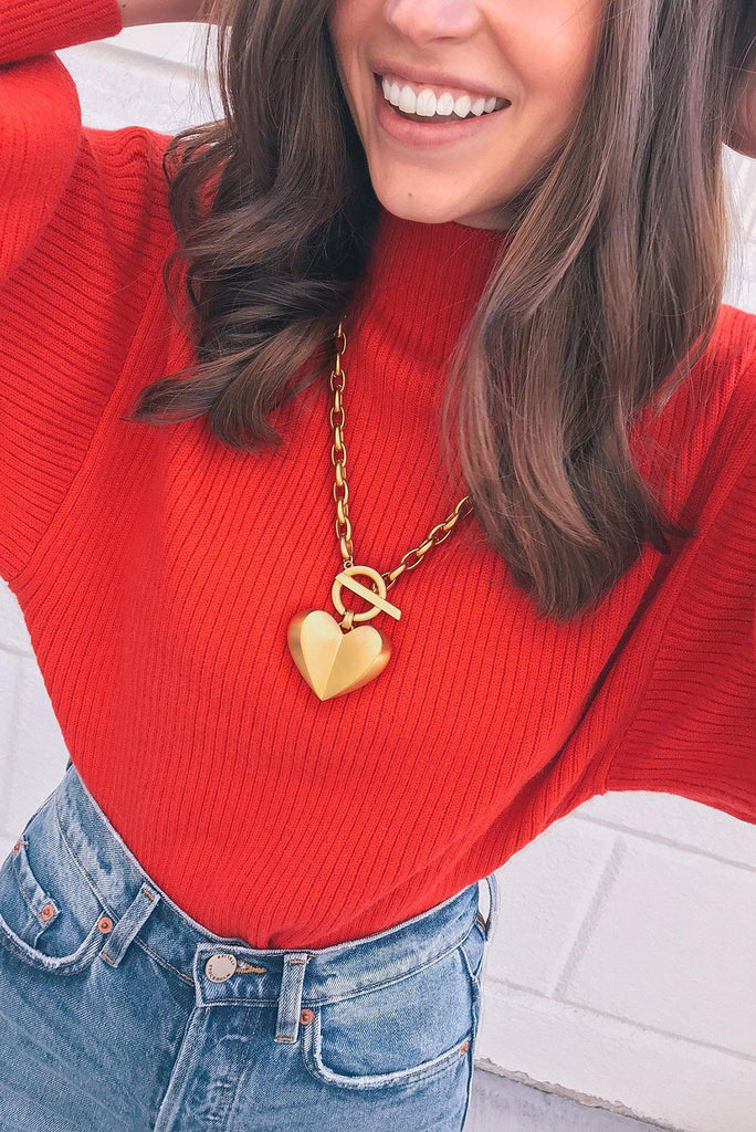 Givenchy Statement Heart Necklace