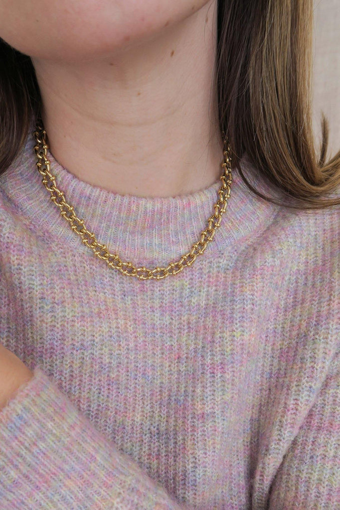 Givenchy Detailed Gold Link Necklace