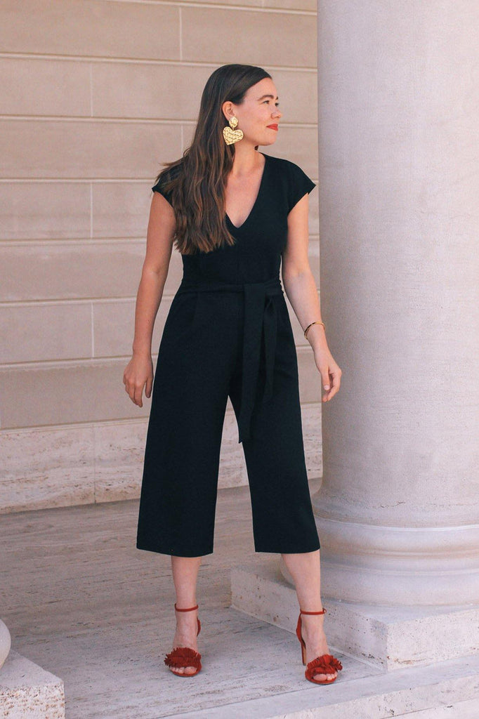 Bishop & Young Black Front Tie Romper