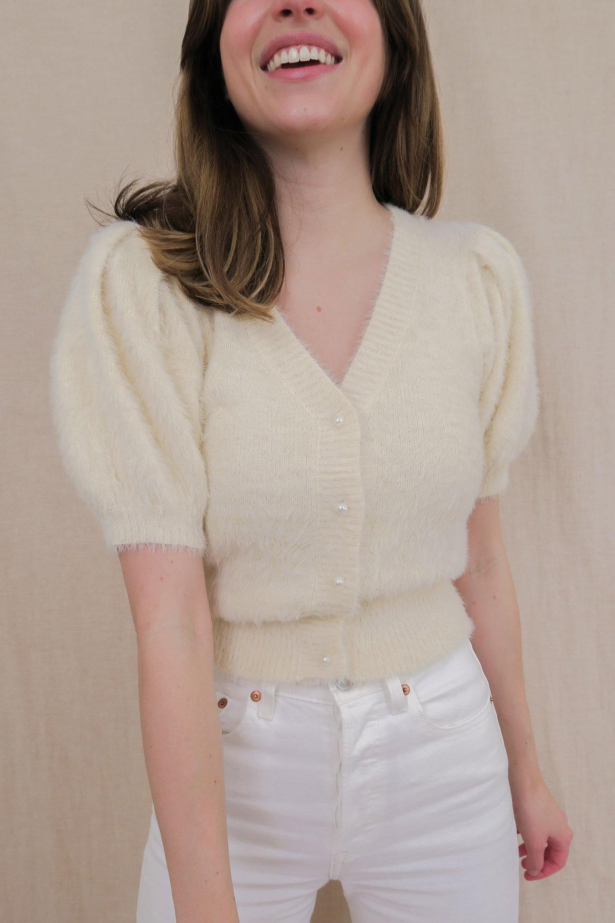 ASTR The Label Alba Cardigan with Pearl buttons.
