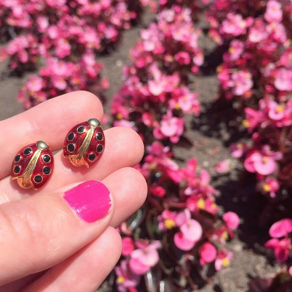 80's Avon Ladybug Earrings