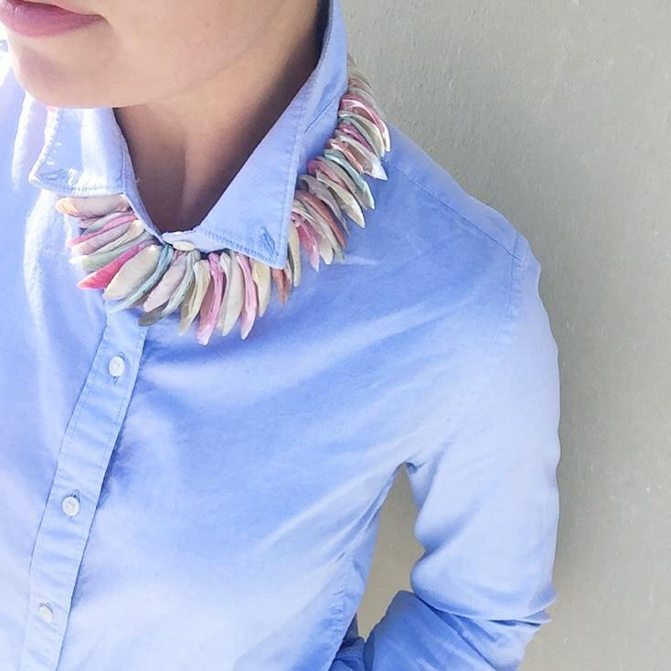 60's Pastel Shell Statement Necklace