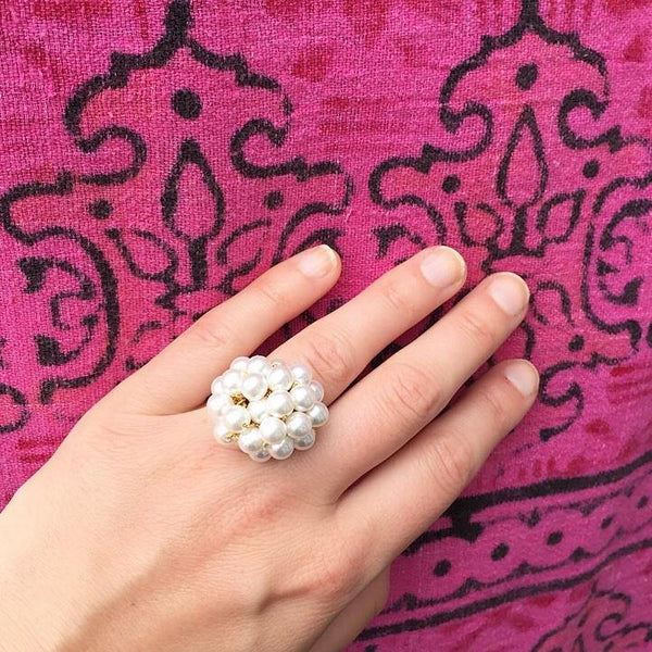70's Pearl Bauble Ring