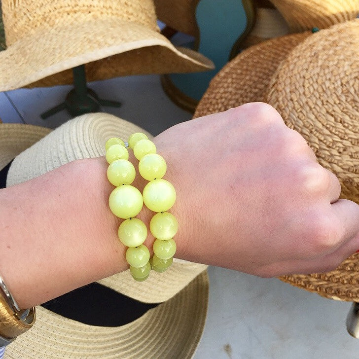 60's Vintage Yellow Bauble Bracelet