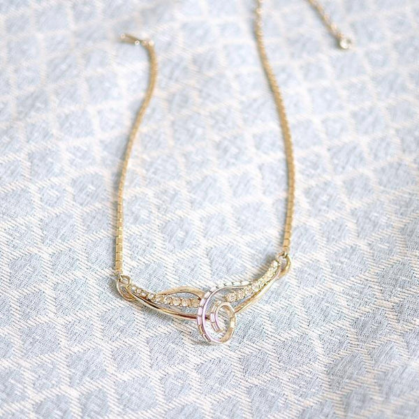 50's Rhinestone Bar Necklace