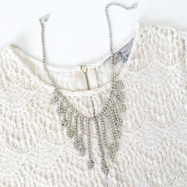 50's Rhinestone Bib Necklace