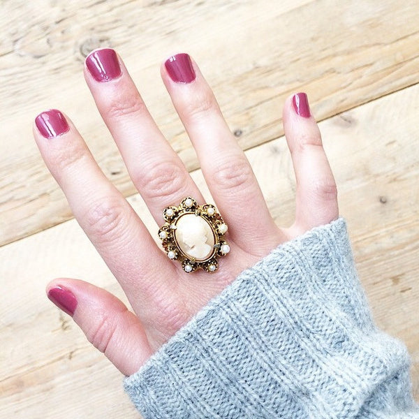 Cameo Statement Ring