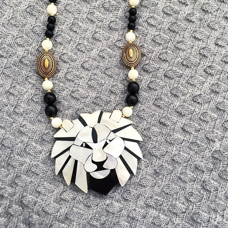 Abalone Lion Necklace