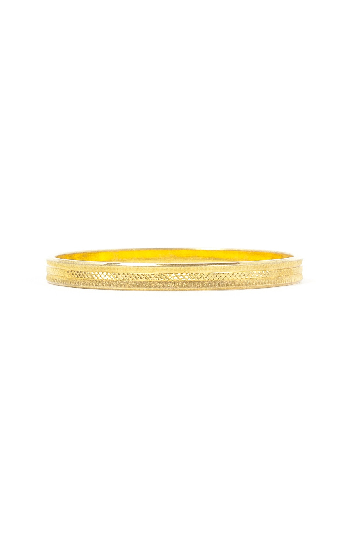70's__Monet__Etched Bangle