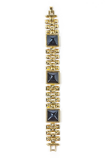 80's__Monet__ Black Square Bracelet