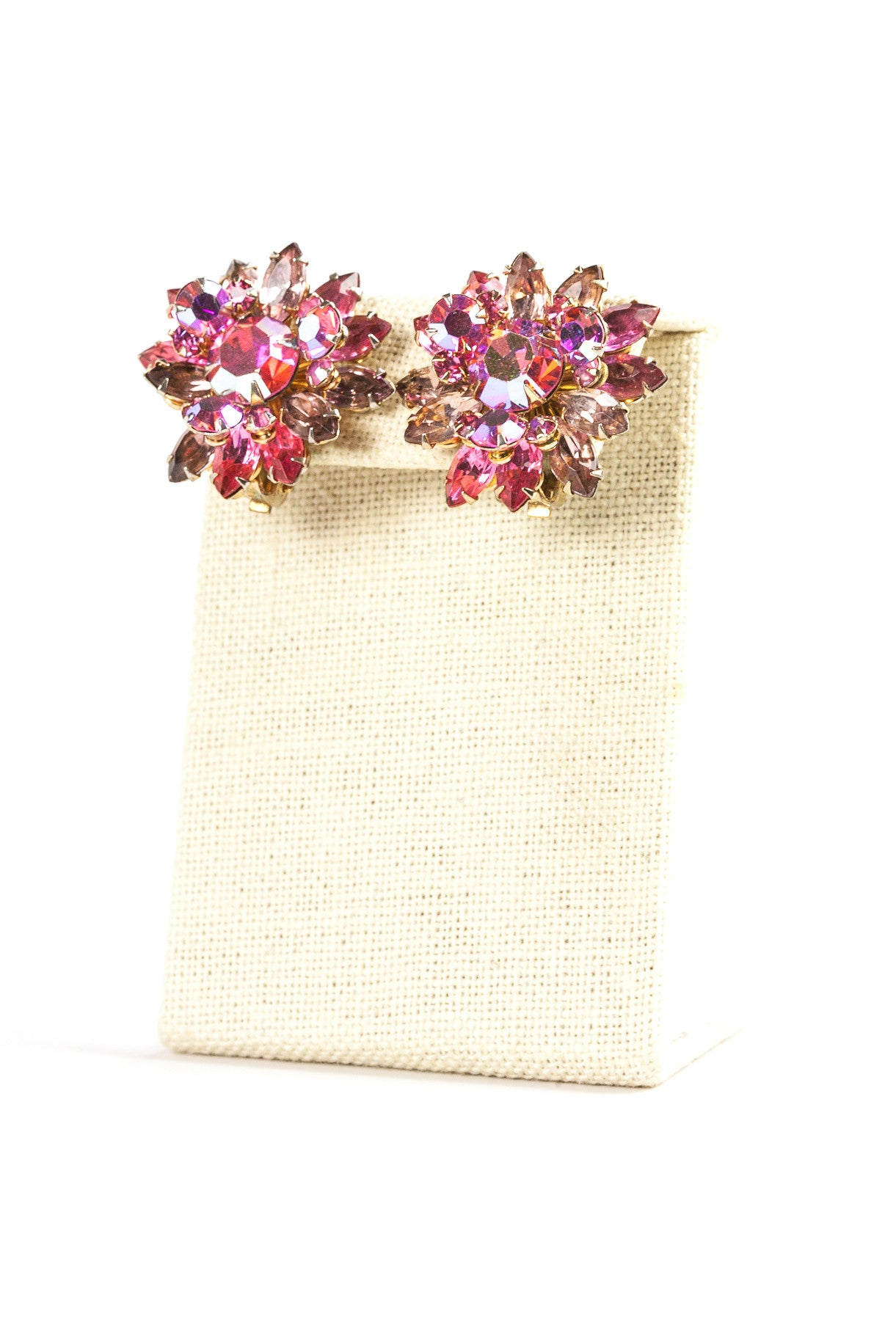 60's__Beaujewels__Pink Burst Clips