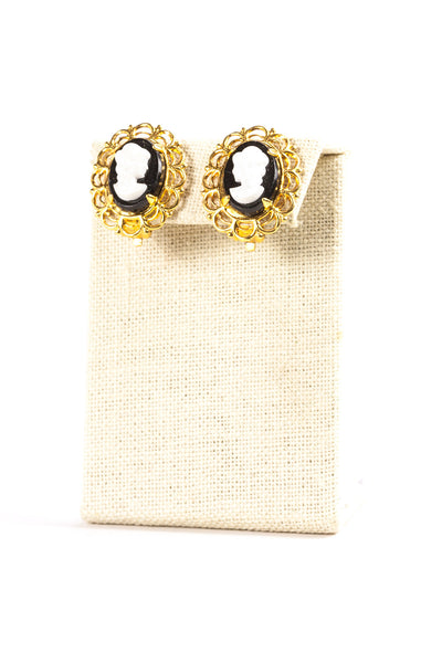 60's__Vintage__Cameo Clips