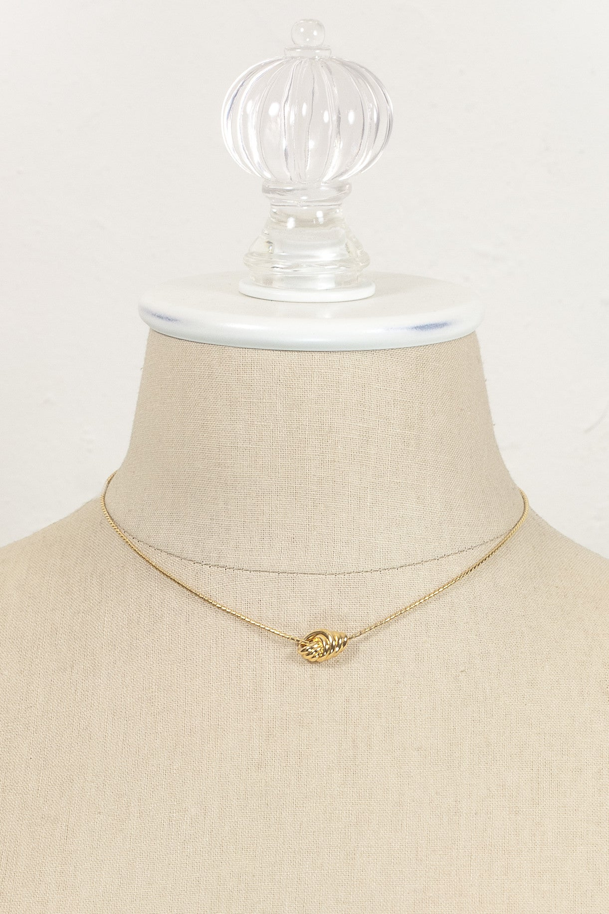 Vintage Monet Dainty Gold Knot Necklace