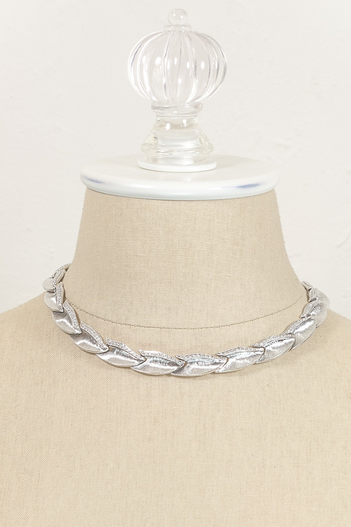 70's__Monet__Silver Link Necklace