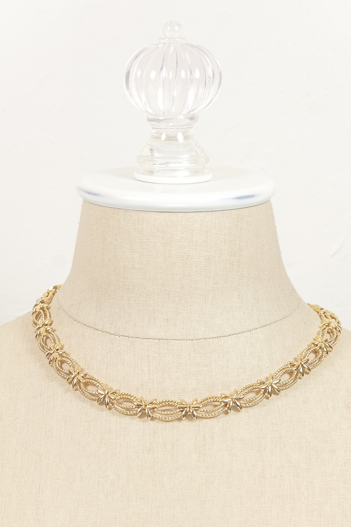 60's__Monet__Floral Link Necklace