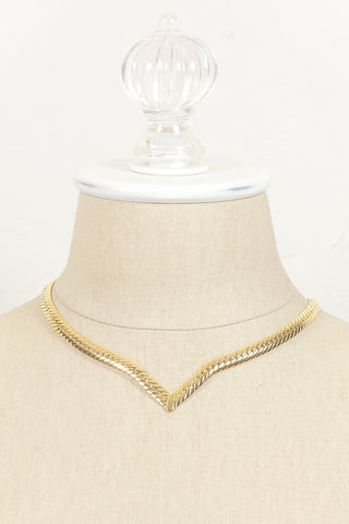 80's__Joan Rivers__V Link Necklace