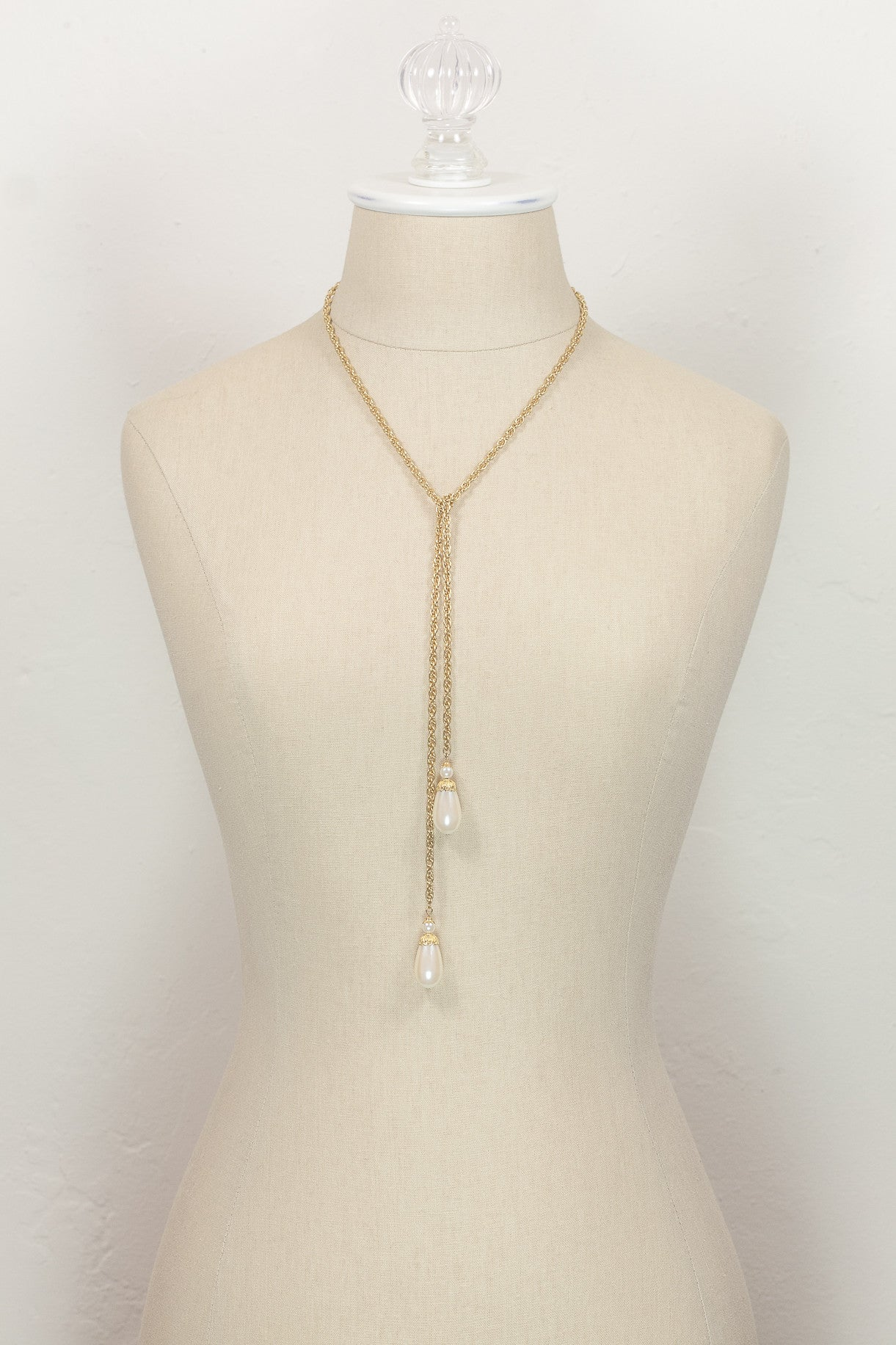 Vintage Drape Around Pearl Tassel Necklace