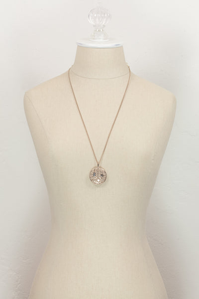 70's__Sarah Coventry__Medallion Pendant Necklace