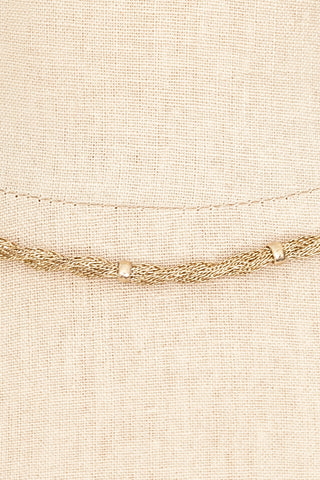 70's__Whiting Davis__Twisted Mesh Necklace