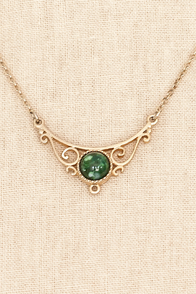 50's__Vintage__Jade Bar Necklace