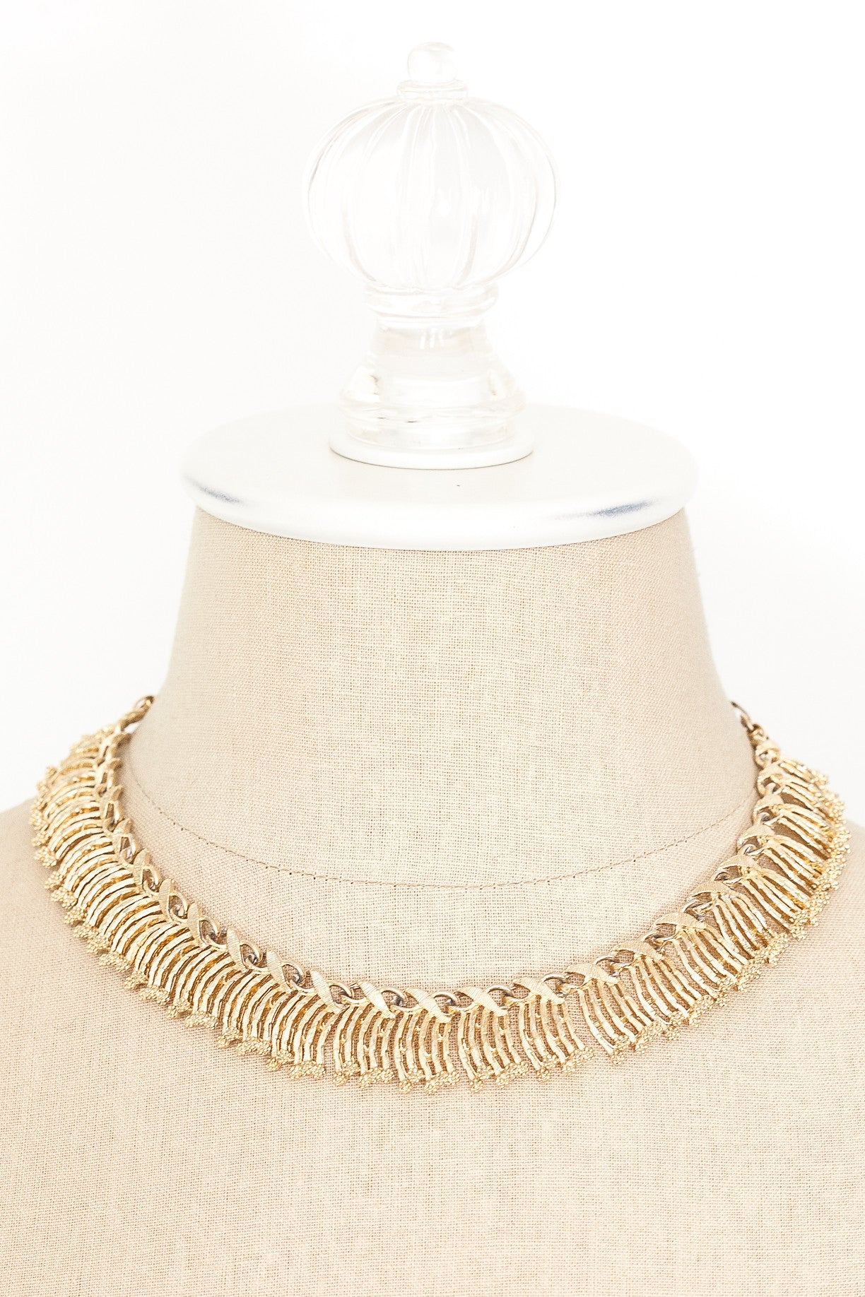 60's__Lisner__Fringe Bib Necklace