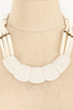 50's__Vintage__White Bone Statement Necklace