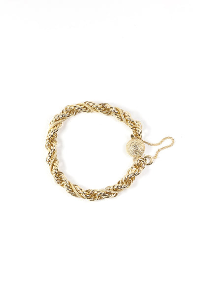 60's__Vintage__Twisted Rope Bracelet