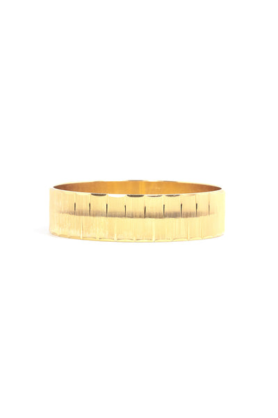 70's__Monet__Wide Etched Bangle