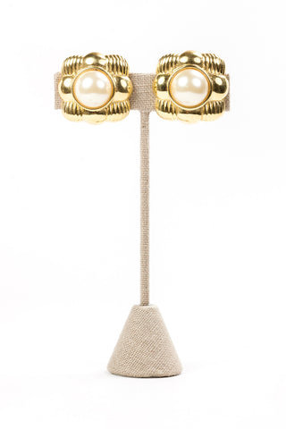 80's__Joan Rivers__Statement Pearl Clip-ons