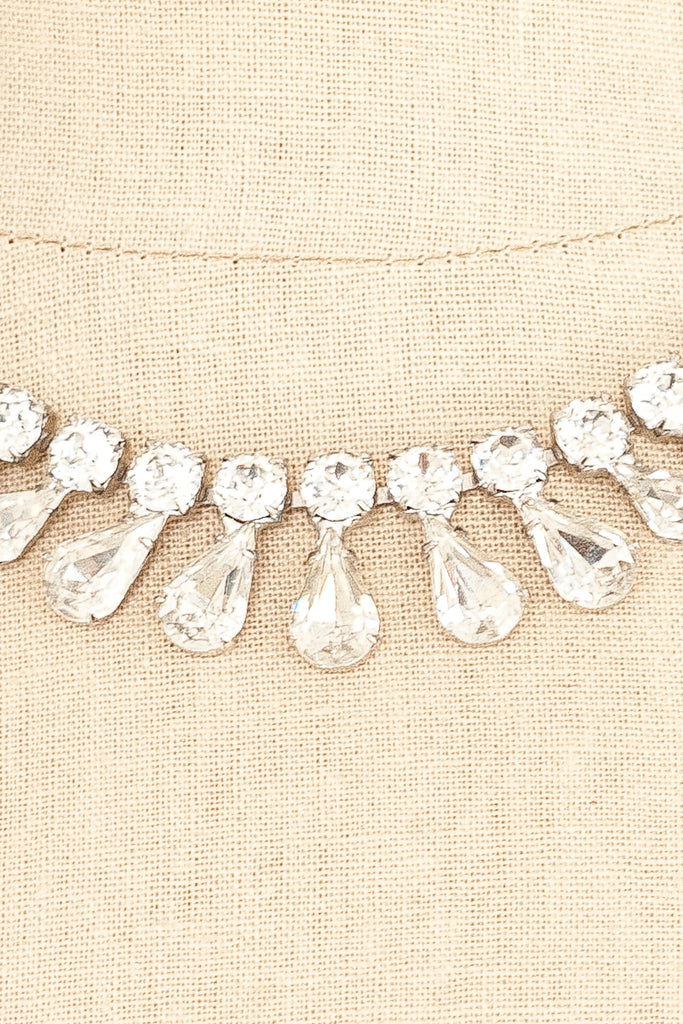50's__Vintage__Fanned Rhinestone Necklace
