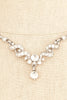 50's__Vintage__Rhinestone Drop Necklace