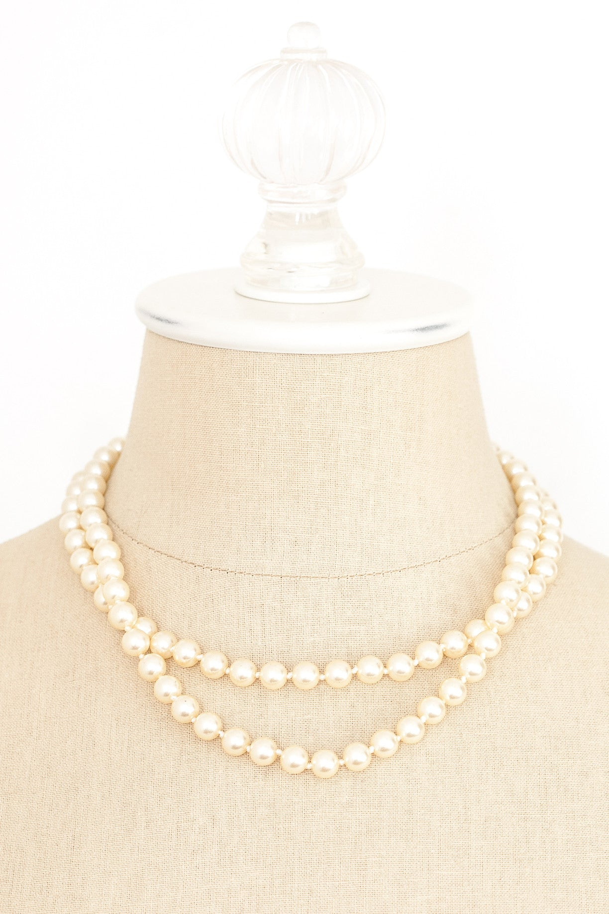 80's__Nolan Miller__Multi Pearl Necklace