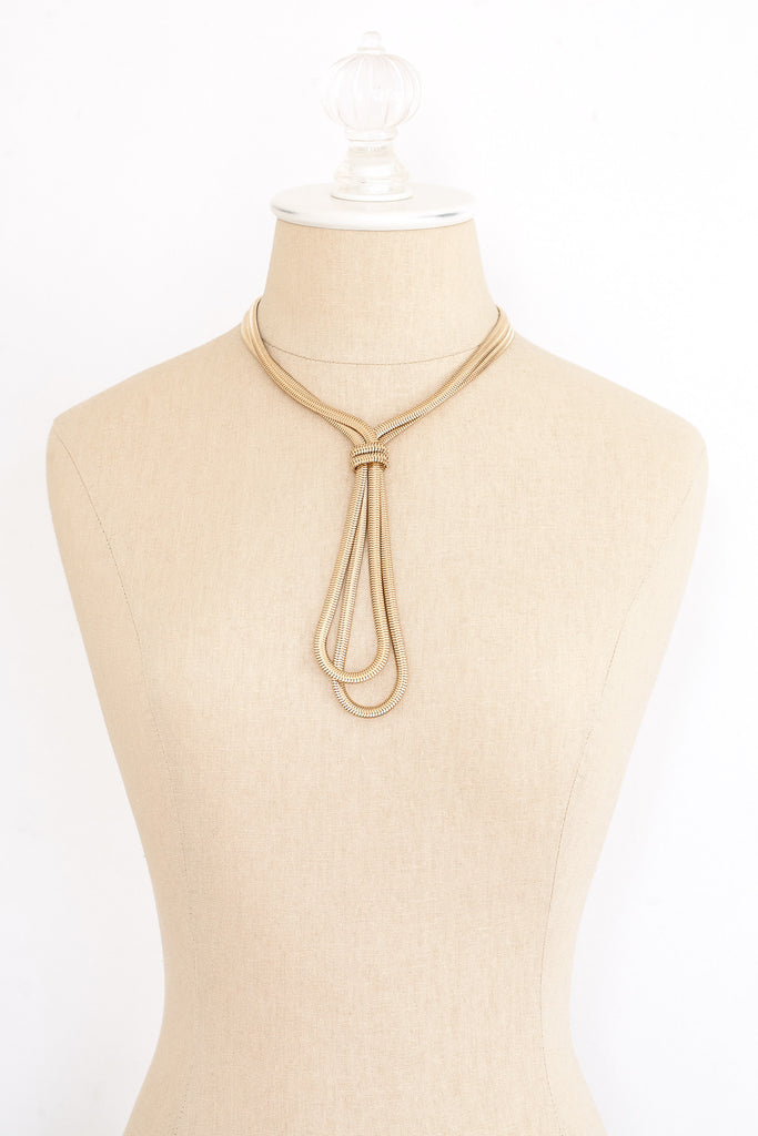 80's__Monet__Chunky Lariat Necklace