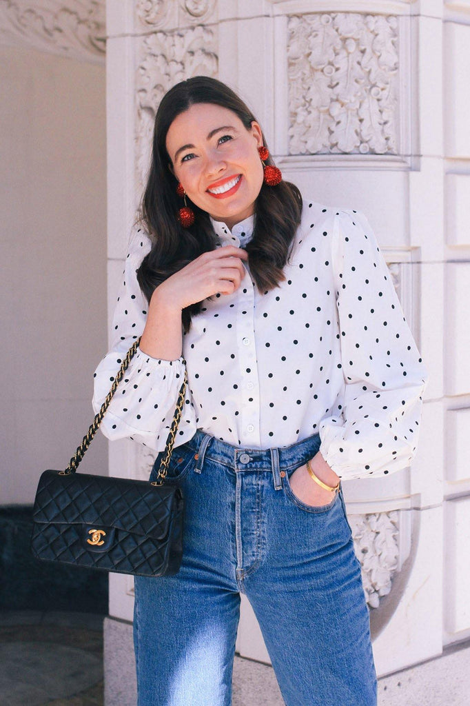 Kourt Anne Polka Dot Top