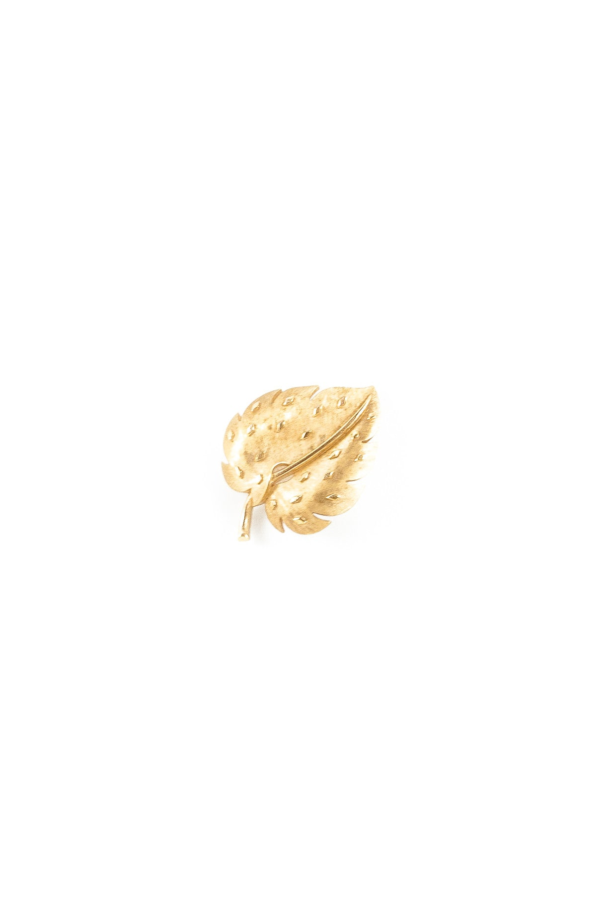 70's__Trifari__Mini Leaf Brooch
