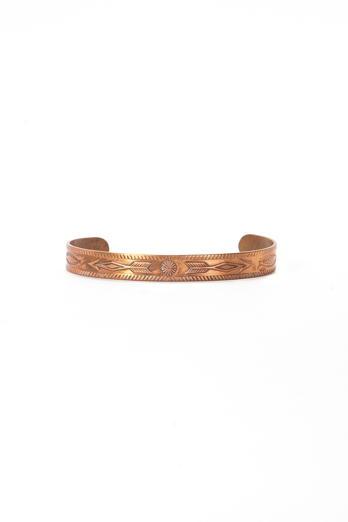 70's__Vintage__Copper Arrows Cuff