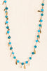 50's__Vintage__Teal Fringe Necklace