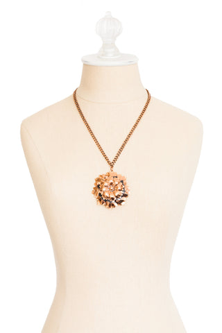 70's__Renior__Copper Floral Necklace
